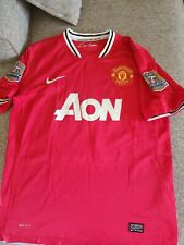 Wayne Rooney Manchester United Nike Authentic Soccer Jersey Mens M 137/6626