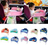 Baby Car Tray Plates Portable Waterproof Eating Table Desk for Kids Safety Seat