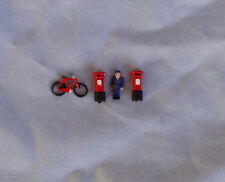 P&D Marsh N Gauge N Scale X49 Postman/bike/post boxes Painted & finished