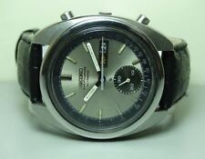 VINTAGE SEIKO CHRONOGRAPH AUTOMATIC DAY DATE MENS WATCH 7N0439 USED ANTIQUE J101