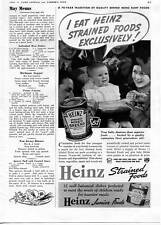 1939 Heinz Strained Mixed Greens Baby Food Print Ad