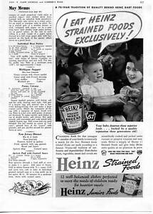 1939 Print Ad of Heinz Strained Mixed Greens Baby Food