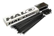 Halo Plain Gauge Spokes Steel Pack of 50 Nipples Included Black 252mm