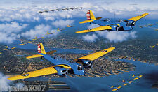 Model Airplane Plans (UC): MARTIN B-10 1/16 Scale Bomber for two .35 engines