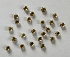 VINTAGE RHINESTONE TINY SEW ON ROSES MONTEES FABRIC EMBELLISHMENT 2mm 9ss