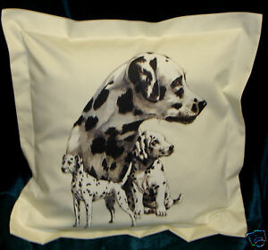 Hand Crafted Dalmation dogs cushion cover