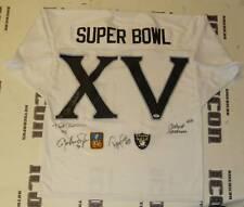 Jim Plunkett Todd Christensen Ray Guy Signed Super Bowl XV Raider Jersey PSA/DNA