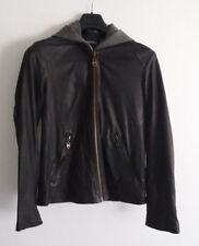 Doma Men's Size Large 100% Leather Jacket with Hoodie Attached Quality Designer