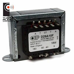 GUITAR Amplifier Output transformer: 18W PUSH-PULL - EL84 valve (x2) OEP D29A10F