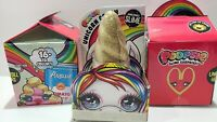 Lot Of 3 New Poopsie Surprise Unicorn Crush Sparkle Slime & Happy Meal Type ¤