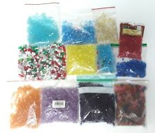 Assorted Bead Lot over 4 pounds Starflake Tri Bead Christmas round