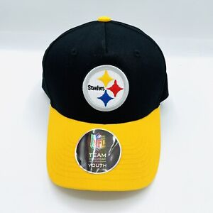 Official NFL Team Pittsburgh Steelers Youth Snapback Hat Adjustable Black Yellow