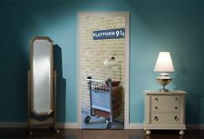 Door Mural Harry Potter platform 9 3/4 View Wall Stickers Decal Wallpaper 324
