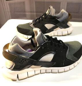 🔥RARE Men's Nike Huarache Free 2012 Running Shoes Black White Grey 12 11.5