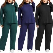 Womens Tracksuit Loose Sweatshirt Pants Loungewear Sports Suit  Sets Plus Size