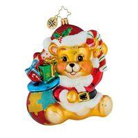 Christopher Radko Ornaments - TEDDY BEAR Glass Christmas Ornament 1019443