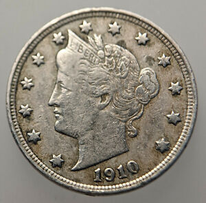 United States 5 Cents Nickel 1910 Copper-nickel Coin - Liberty