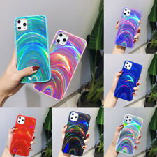 Holographic Prism Looking Laser Case for iPhone X XS 7 8 Rainbow Glitter Cover