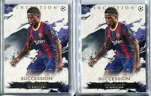 (2) 2021 Topps Inception UCL UEFA Champions League Ansu Fati LOT