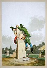 EROTIK KUNST FARB LITHOGRAPHIE FENDI EROTIC ART SCHÜTZENFEST BIEDERMEIER 1910