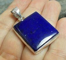 Chunky 925 Silver BLUE LAPIS LAZULI Pendant P751~Silverwave*uk Jewellery