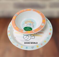 Winnie the Pooh Breakfast Cereal Bowl & Plate Kids Dining Novelty Gift Sets New