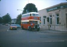 ORIGINAL BUS COLOURSLIDE,SOUTHAMPTON CORPORATION GUY LOW217 AT PORTSWOOD IN 1981