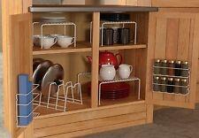 6 Piece Kitchen Cabinet Pantry Shelf Organizer - Door Spice Rack Lid Organizers