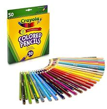 Crayola Colouring Pencils 50 Bright Bold Colours - 50 Pack - Pre-sharpened