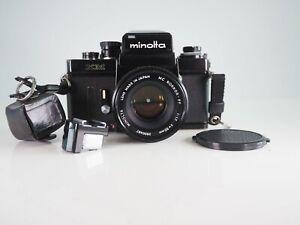 RARE MINOLTA XM PRO 35MM FILM MANUAL CLASSIC SLR CAMERA + 50MM F1.7  LENS 55