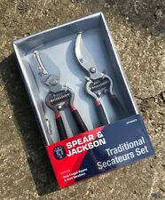 Spear & Jackson Traditional Vintage Bypass And Anvil Secateur Set - Garden Gift