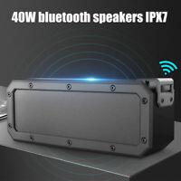 INSMA 40W  Portable Wireless bluetooth Speaker Waterproof Bass Stereo Subwoofer