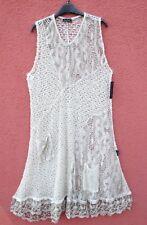 NEU SARAH SANTOS Herbst Strickkleid Kleid Robe Dress M 40 42 Lagenlook Wolle *