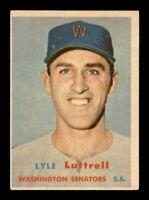 1957 Topps Set Break # 386 Lyle Luttrell EX *OBGcards*