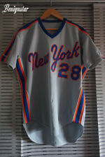 Vintage Game Used Bill Robinson 1987 New York Mets Road Baseball Jersey