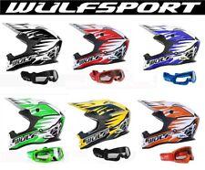 CASCHI MOTO WULFSPORT Casco Motocross Off Road Enduro ATV Quad Cross MX Goggles