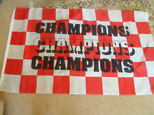 CHAMPIONS Red+White Checked Flag ~ Sports Bar / Prop / Shop / Display / MANCAVE