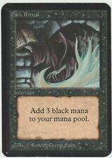 Alpha MTG  Dark Ritual  Magic Common Near Mint Minus