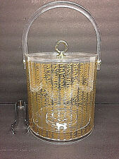 Amaretto Di Saronno Acrylic Ice Bucket Clear Gold Writing