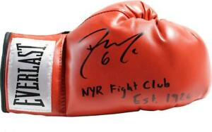 Dylan McIlrath Signed Red Boxing Glove & NYR Fight Club est. 1926 Insc  - LE 100