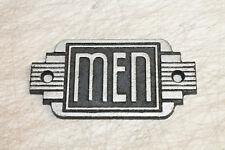 Vintage Style Men Restroom Signs Cast Iron Gas Station Garage Man Cave