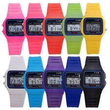 1Pc F-91W Sports Alarm Stopwatch Digital Chronograph Rubber Strap Wrist Watch