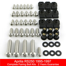 For Aprilia RS250 1995-1997 Stainless Complete Fairing Bolt Screws Fasteners Kit