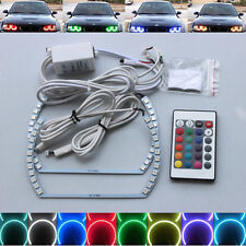 Xenon Headlight RGB remote Multi-Color LED Angel Eye Kit for Chevy Camaro 10-13