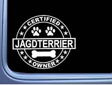 """Certified Jack Russell L339 Dog Sticker 6"""" decal"""