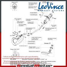 DERBI SENDA SM 2001 01 LEOVINCE SISTEMA DE ESCAPE COMPLETO X-FIGHT INOX 3228