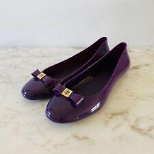 TORY BURCH Purple Jelly Ballerina Flats - US 9