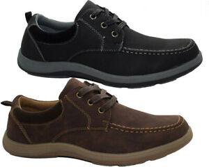 Mens Lace Up Casual Loafers Designer Deck Boat Moccasin Lightweight Driving Shoe