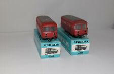 MARKLIN H0 : 4018 DB 800 B bus su rotaia 2 pezzi in scatola originale : anni 60
