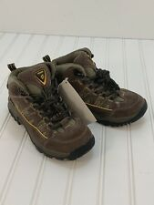 New With Tags Nevados Kids Youth Size 1 Mid Hiking Boots Unisex Brown Lace Up